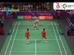 Live Score Final Bulutangkis Beregu Putra (Badminton) Indonesia vs China Asian Games 2018. Foto Vidio.com